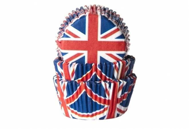 Papírové košíčky na muffiny Union Jack 50ks - House of Marie
