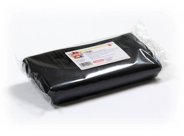Potahovací hmota 1 Kg - černá - Kelmy