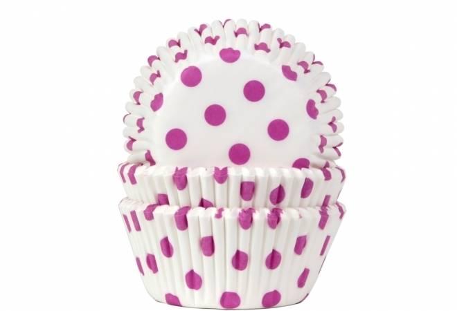 Papírový košíček na muffiny puntíky růžové 50ks - House of Marie