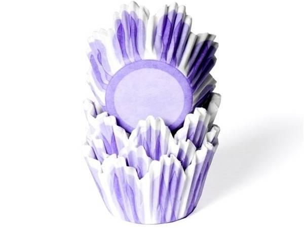 Papírové košíčky na muffiny fialový tulipán 50ks - House of Marie