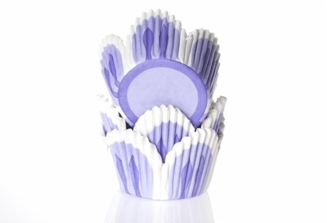 Košíček na muffiny světle fialový tulipán 50ks - House of Marie