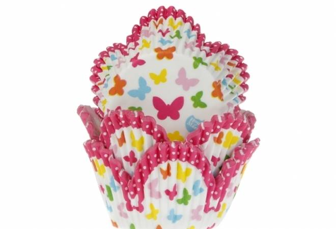 Košíček na muffiny motýlci 50ks - House of Marie