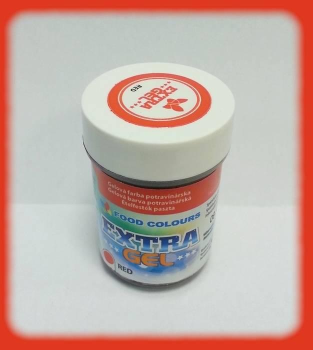 Gelová barva extra červená 35g - Food Colours