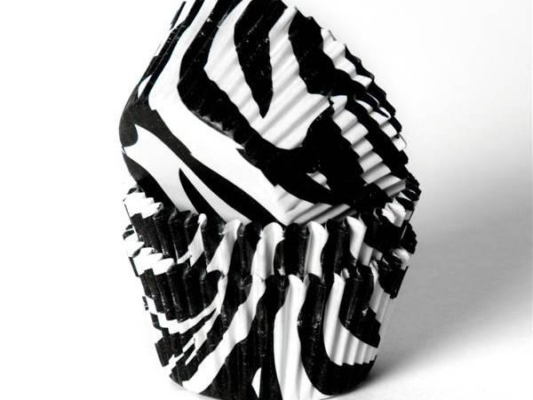 Košíček na muffiny bílý zebra 50ks - House of Marie