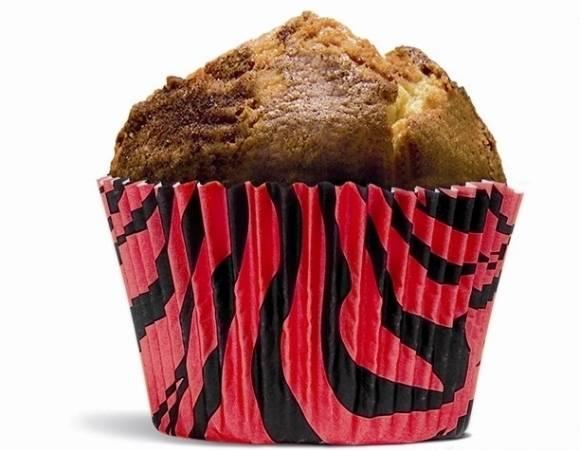 Papírový košíček na muffiny tygrovaný červeno černý - House of Marie