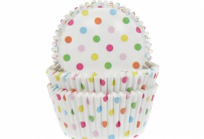 Papírový košíček na muffiny puntíkovaný 50ks - House of Marie