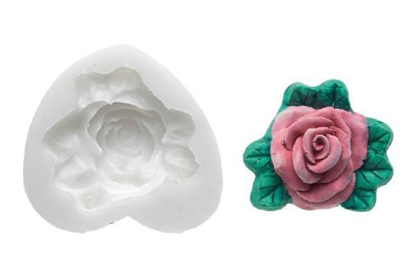 Silikonová forma na fondán- růže - Silikomart