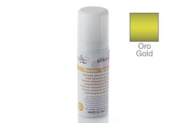 Barva ve spreji 50ml - zlatá - Silikomart
