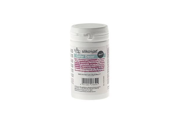 Prachová barva do tuků 25g - černá - Silikomart