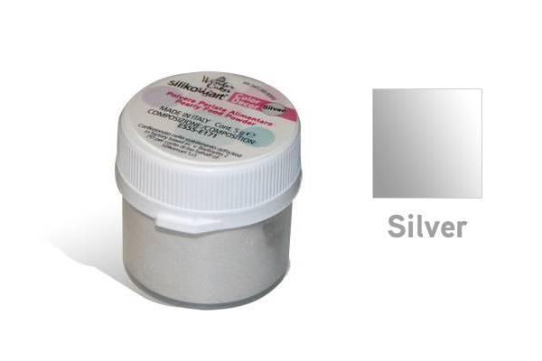 Prachová barva 5g - stříbrná - Silikomart