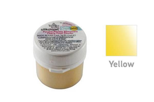 Prachová barva 5g - žlutá - Silikomart