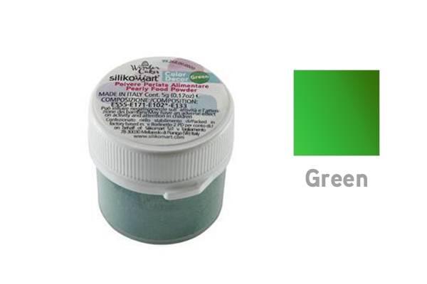 Prachová barva 5g- perleťová zelená - Silikomart