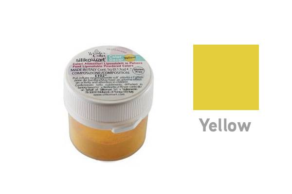 Prachová barva do tuků 5g - žlutá - Silikomart