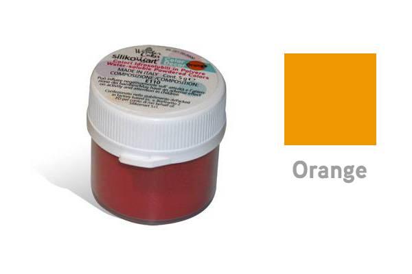 Prachová barva vodou rozpustná 5g - oranžová - Silikomart