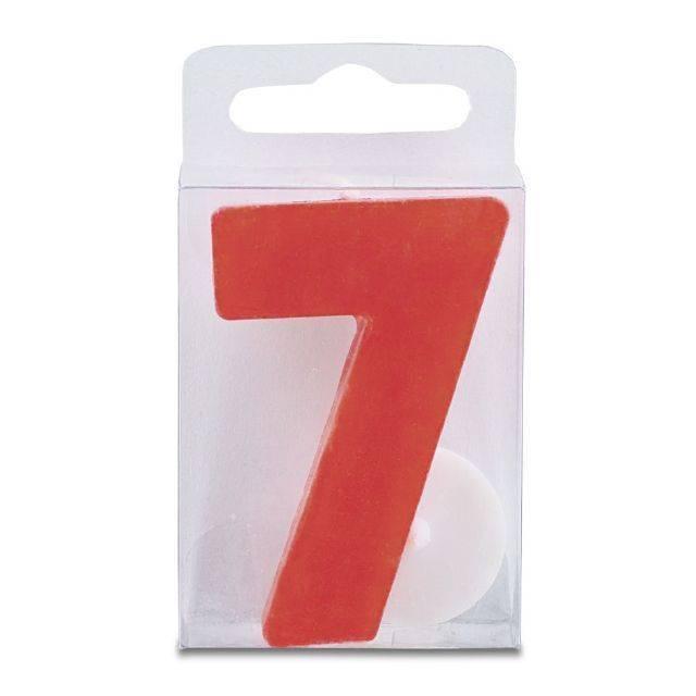 Svíčka ve tvaru číslice 7 - mini, červená - Stadter