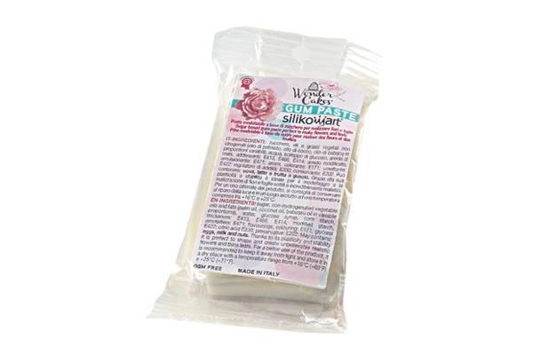 Gum pasta 100g - bílá - Silikomart