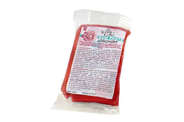 Gum pasta 100g - červená - Silikomart