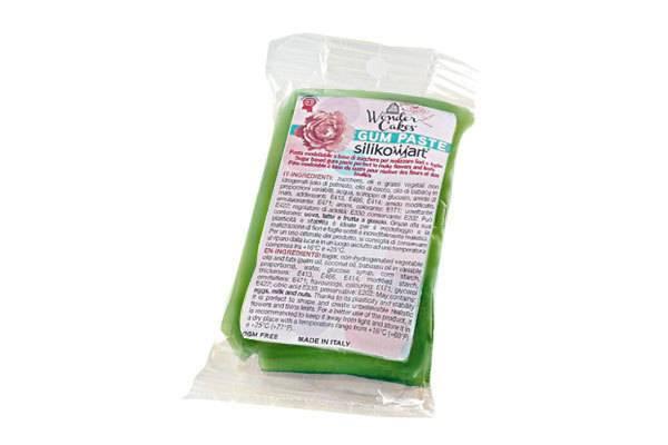 Gum pasta 100g - zelená - Silikomart