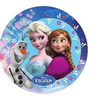 Jedlý papír Elsa, Anna a Olaf - 21cm - Florensuc