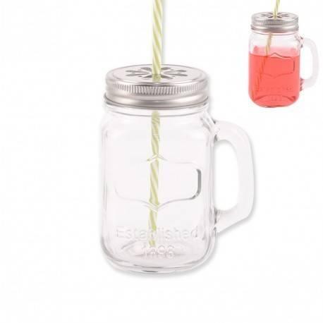 Sklenice na pití s víčkem a brčkem 0,5l - Orion