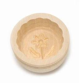 Forma na máslo kruhová - 60 g - javorové dřevo - Klawe