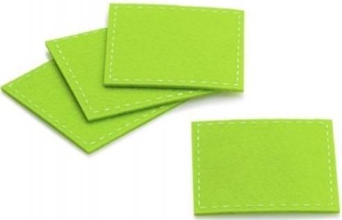 Podtácek Alia 4ks 10 x 10 cm, filc, zelená - Kela