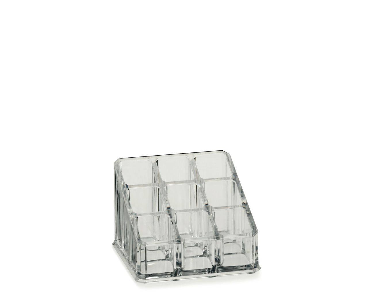 Kosmetická dóza SAFIRA, plast, transparent, 9x9x6,5cm - Kela