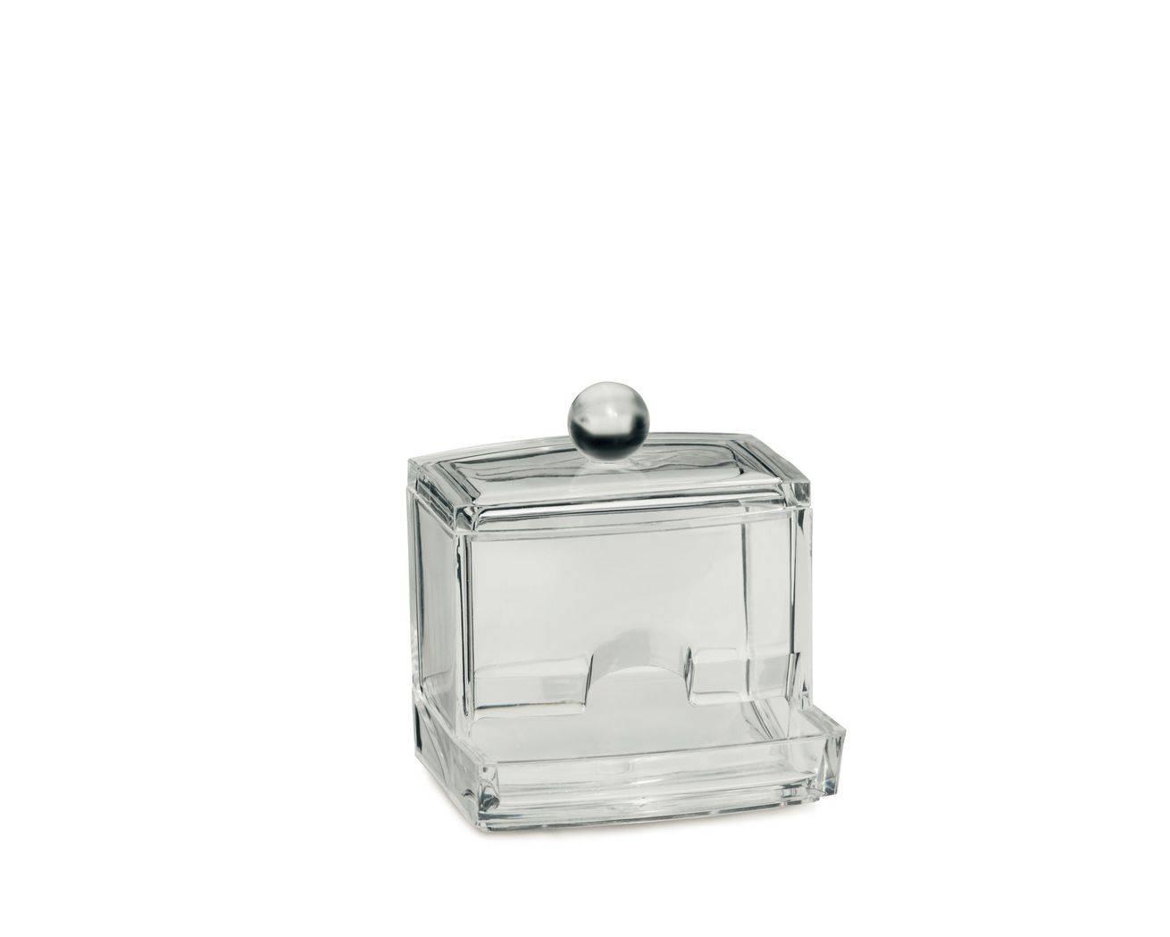 Kosmetická dóza SAFIRA plast, transparent, 9x7x9,5cm - Kela