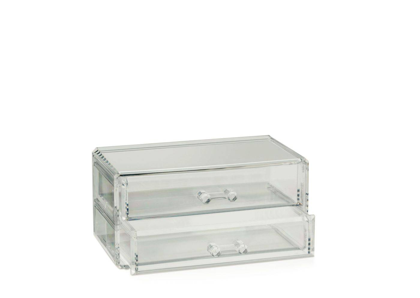 Šperkovnice SAFIRA plast, transparent, 18,5x10x9,5cm - Kela
