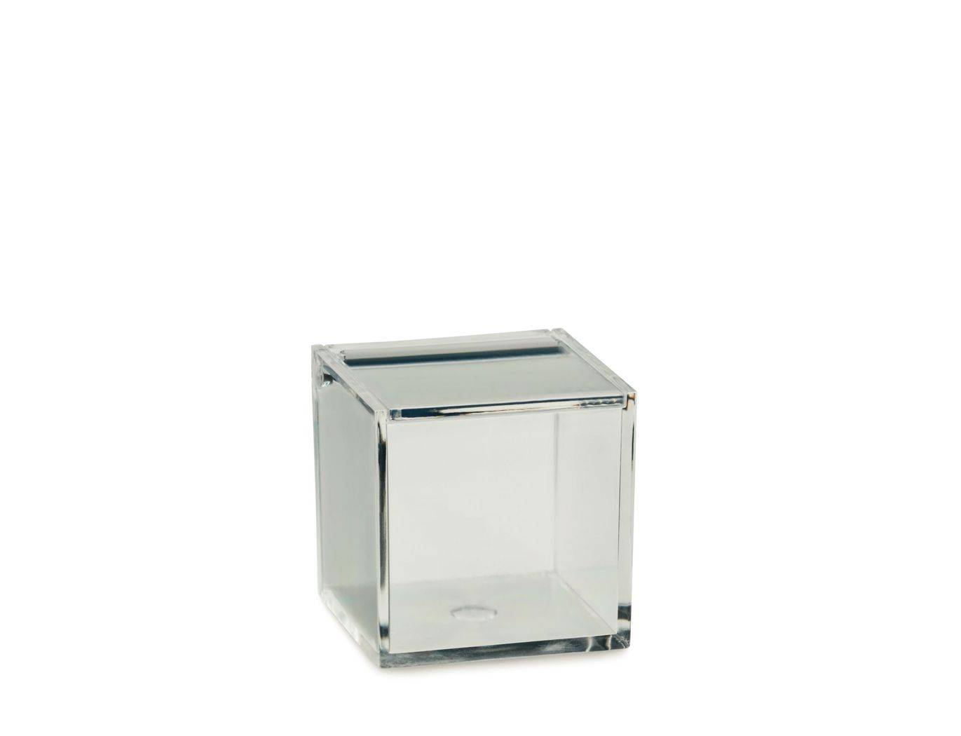 Kosmetická dóza SAFIRA plast, transparent, 6x6x6cm - Kela
