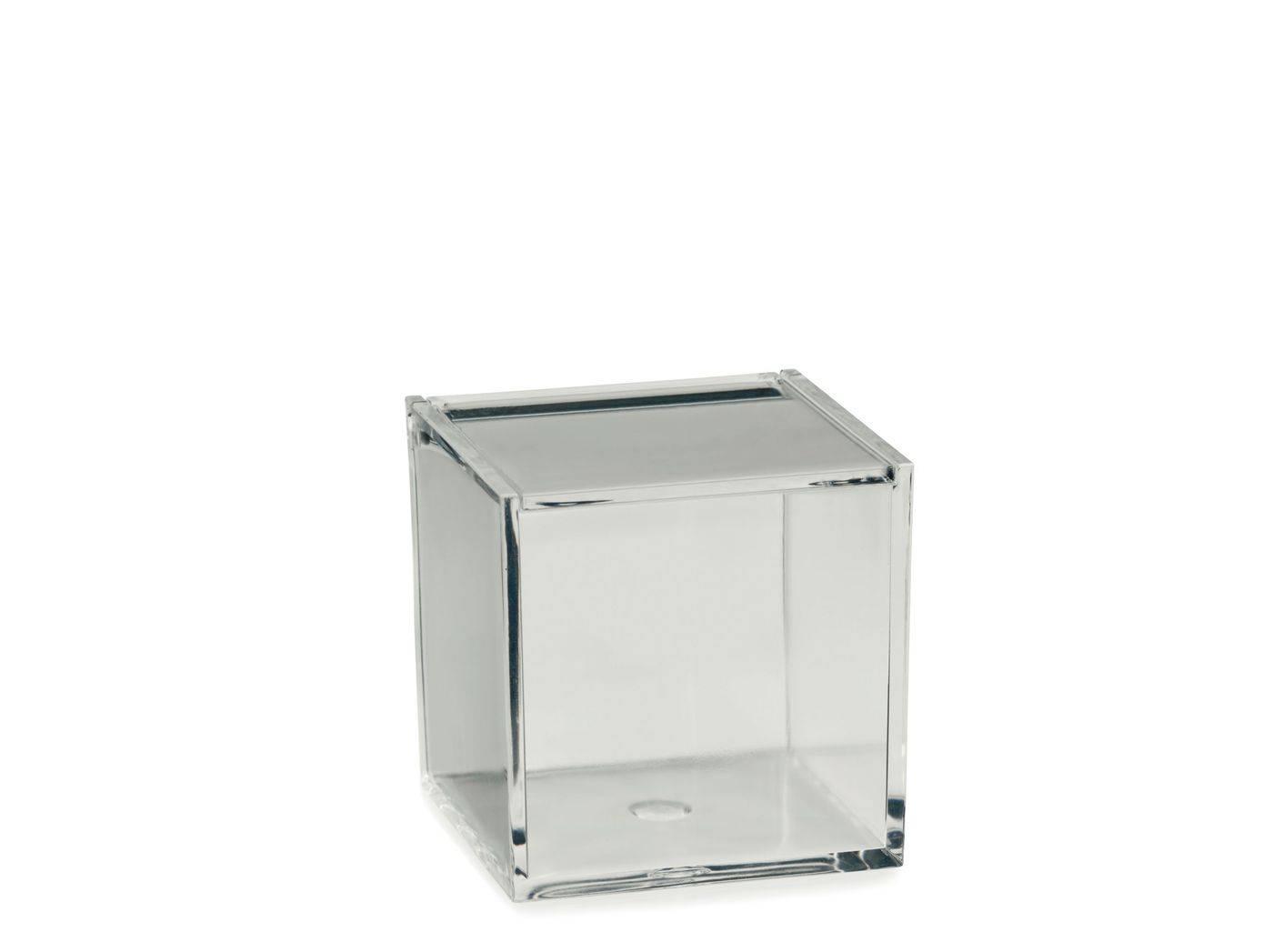 Kosmetická dóza SAFIRA plast, transparent, 8x8x8cm - Kela