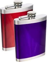 Nerezová placatka 210 ml - barevná - BIOWIN