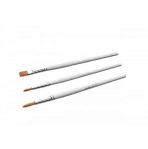Cukrářské dekorační štětce 3ks - 7mm,10mm, plochý - Silikomart