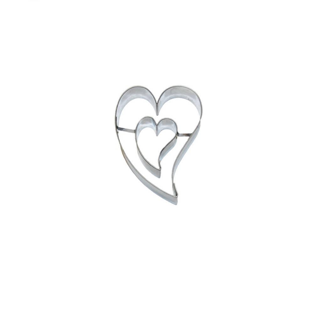 Vykrajovátko srdce nepravidelné/srdíčko nepravidelné nerez - Smolík