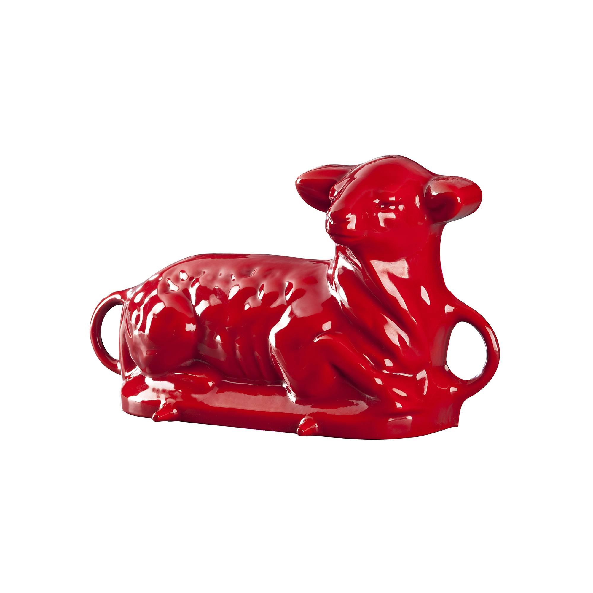 Beránek - smaltovaná forma na pečení, červená - Smalt