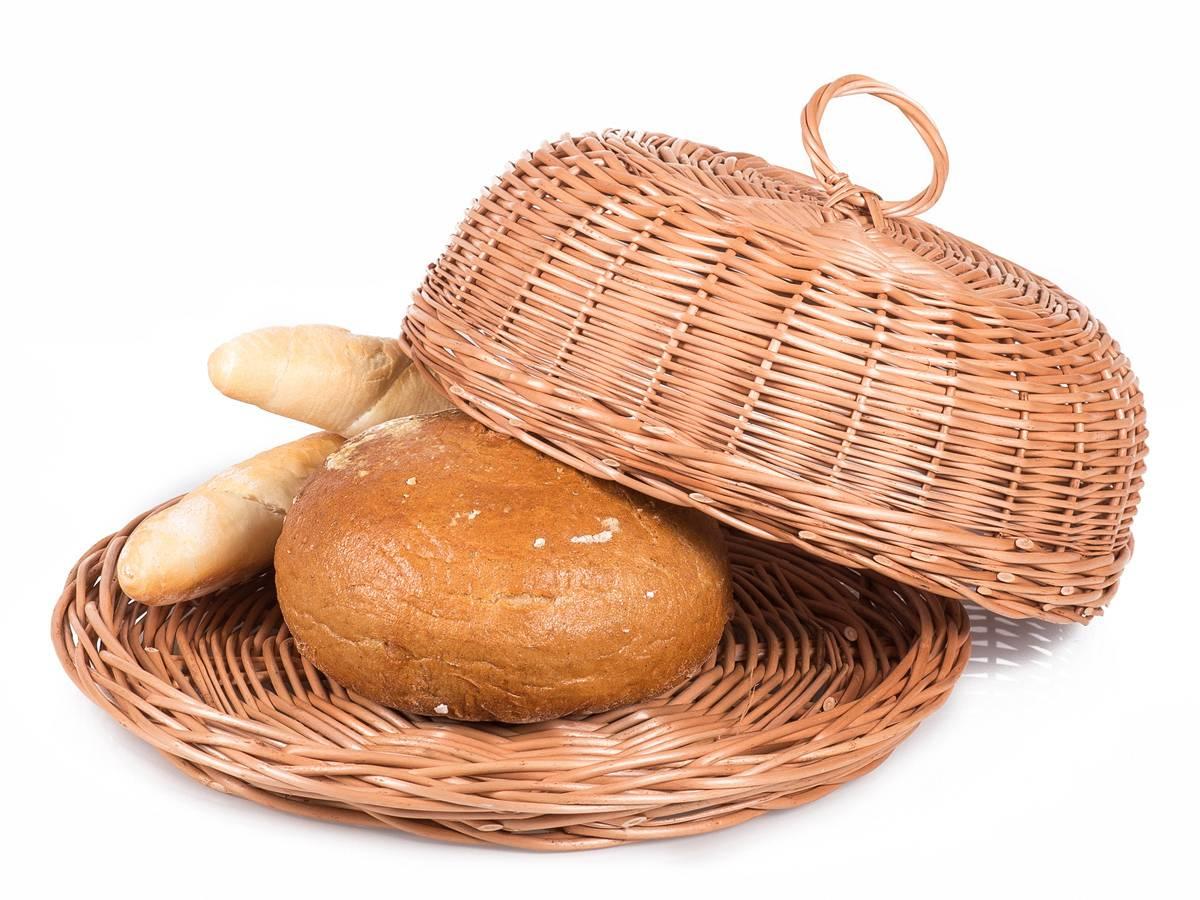 Proutěný chlebník kulatý 33x13cm - Jipro