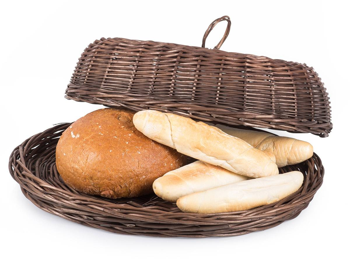 Chlebník proutěný oválný provence 39x28x13cm - Jipro