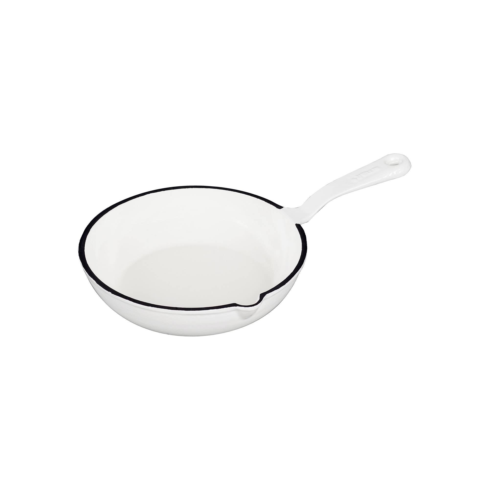 Smaltovaní pánvička litinová - bílá - Smalt