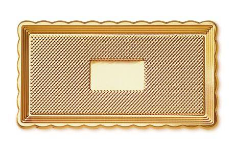 Servírovací tác zlatý MEDORO 15x35cm - ALCAS