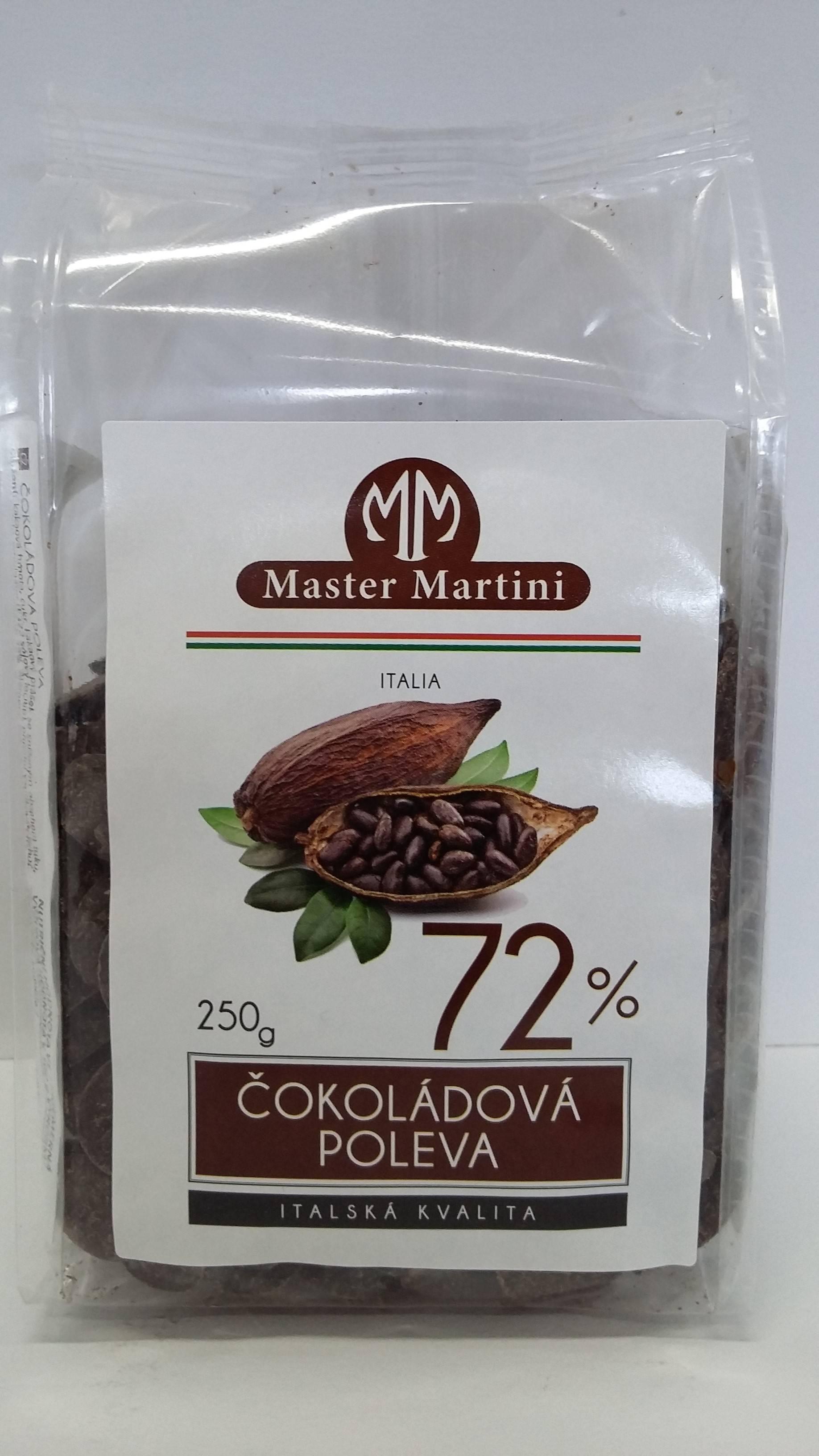 Čokoládová poleva 72%- 250g - Master Martini
