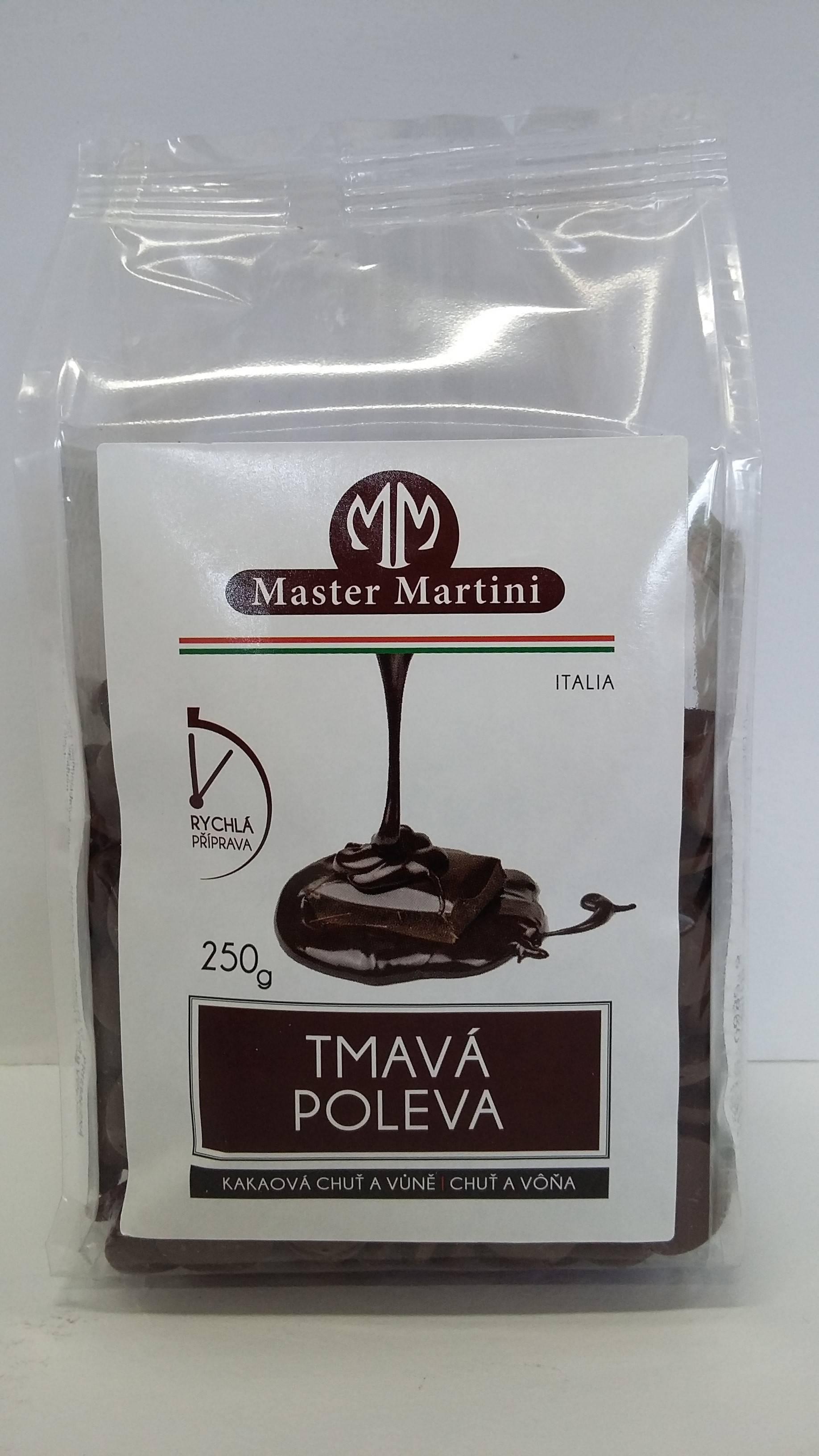 Tmavá poleva 250g - Master Martini
