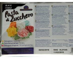 Modelovací hmota PASTA DI ZUCHERO 1Kg černá - Master Martini