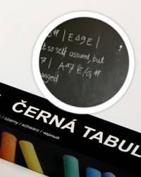 Černá nalepovací tabule 67,5x150cm - Nalepovací tabule