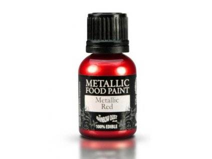 Metalická tekutá barva 25 ml - Červená - Rainbowdust