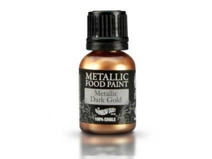 Potravinářská barva 25 ml - Metalická tmavě zlatá - Rainbowdust