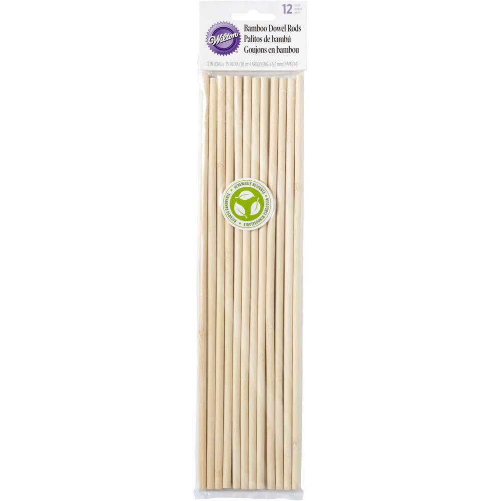 Bambusové sloupky 30cm - 12ks - Wilton