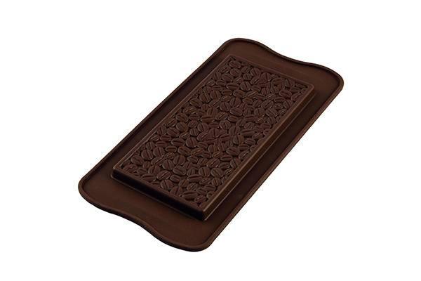 Silikonová forma na čokoládu – tabulka kávová zrna - Silikomart