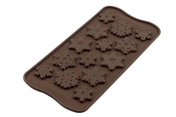 Silikonová forma na čokoládu – sněhové vločky - Silikomart