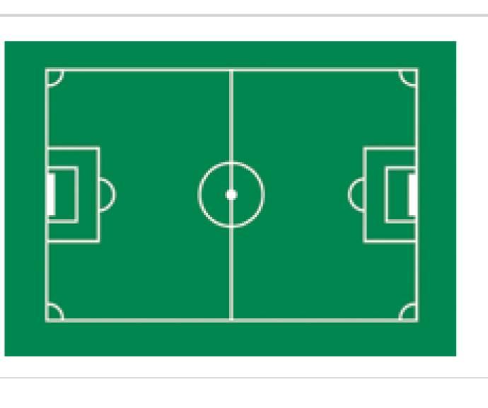 Jedlý papír fotbalové hřiště 29,5 x 19,5cm - Florensuc