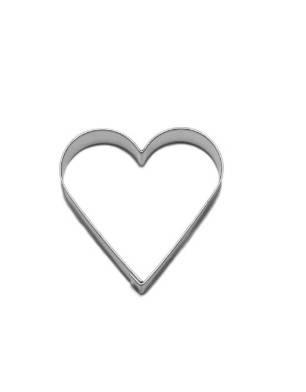 Vykrajovátko srdce větší 54×54 mm - Smolík